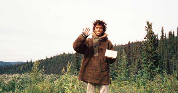 Last picture of Christopher McCandless in Alaska