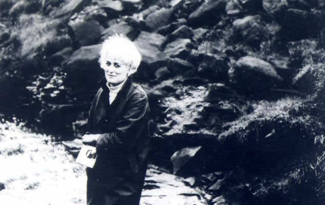 Myra Hindley near the shallow grave