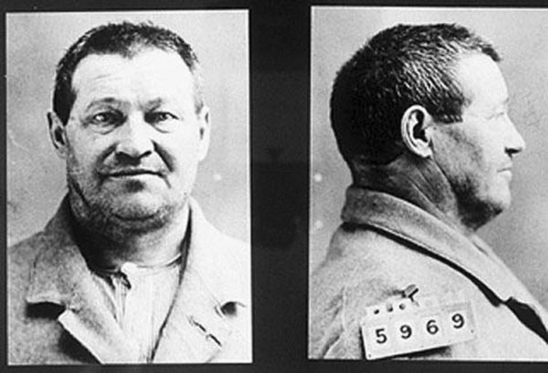 The mugshot of Adolph Luetgert