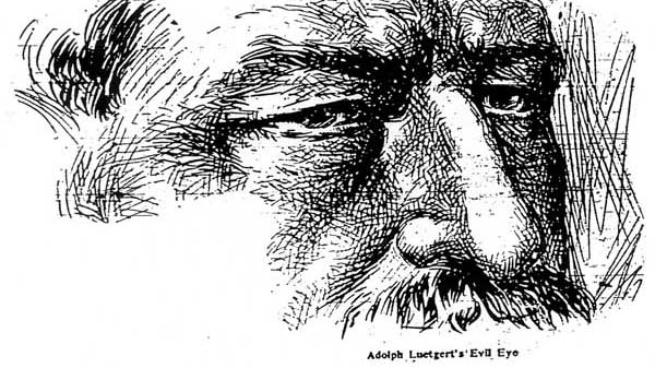 Adolph Luetgert's newspaper drawing
