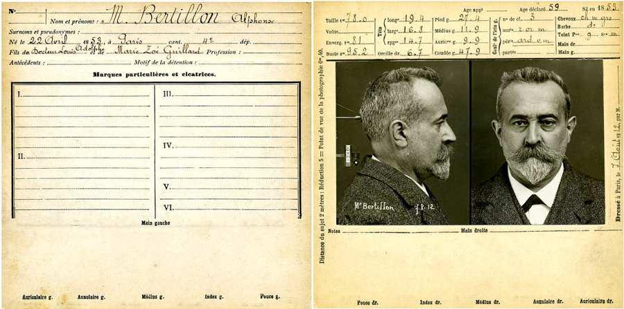 Alphonse Bertillon mugshot