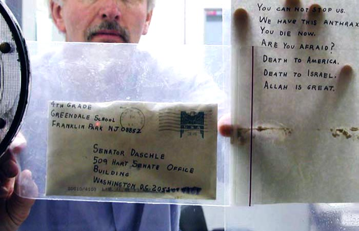 Evidence: 2001 Anthrax Attack Letters.