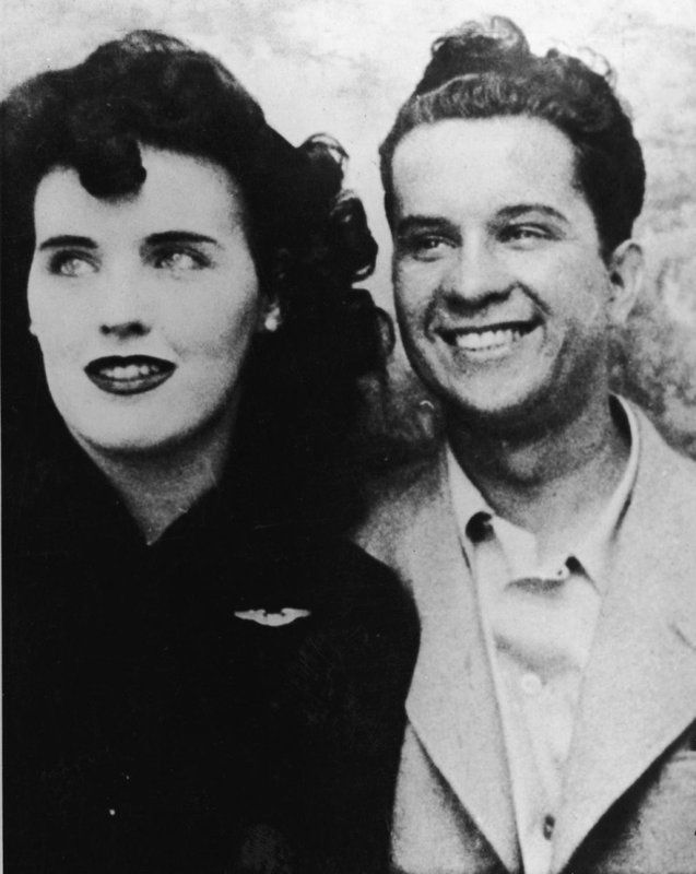 Black Dahlia aka. Elizabeth Short with an unidentified man