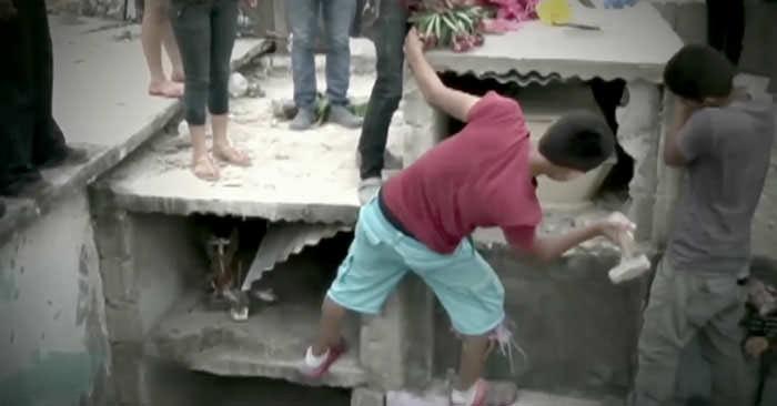 Buried alive: Neysi Perez