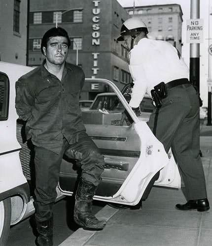 Charles Schmid during the arrest