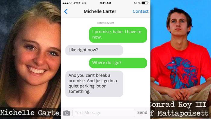 "Girlfriend charged for Boyfriend's suicide: ""You just have to do it"""