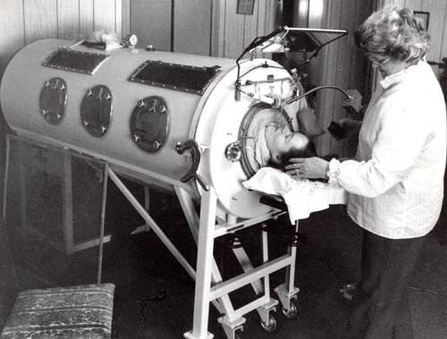 Dianne Odell in iron lung