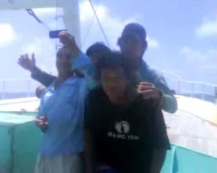 Fiji Fishing Vessel shooting video unidentified men.