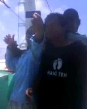 Fiji Fishing Vessel shooting video unidentified men