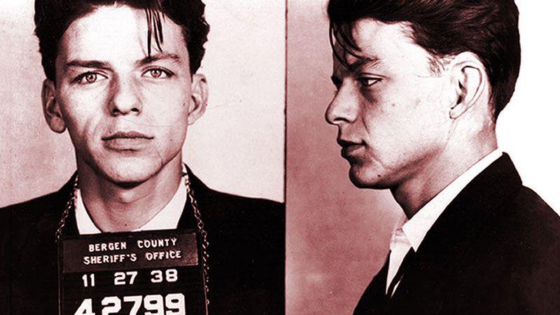 The mugshot of Frank Sinatra