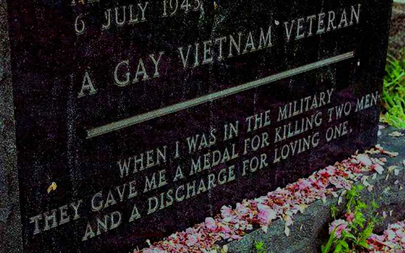 A gay veteran tombstone