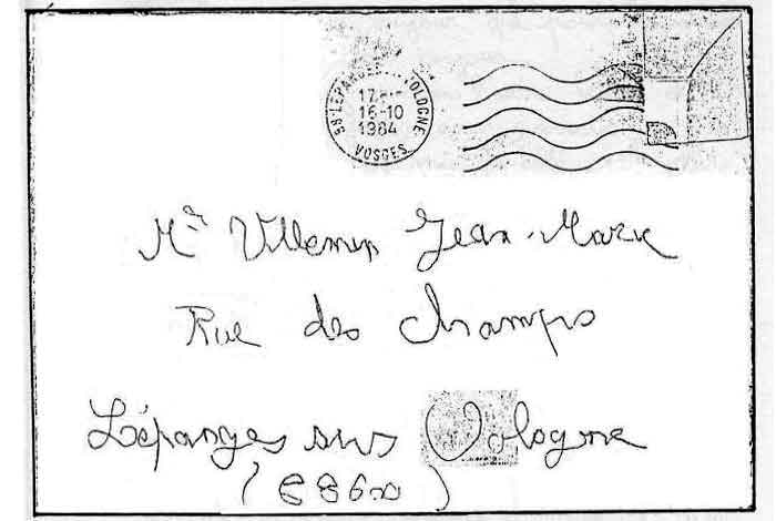 The letter of Grégory Villemin