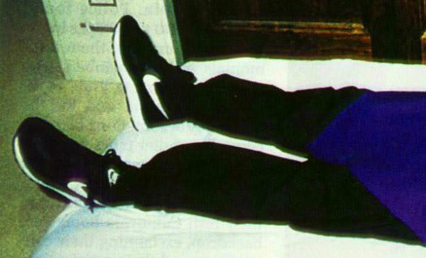 Heavens gate member with Nike shoes