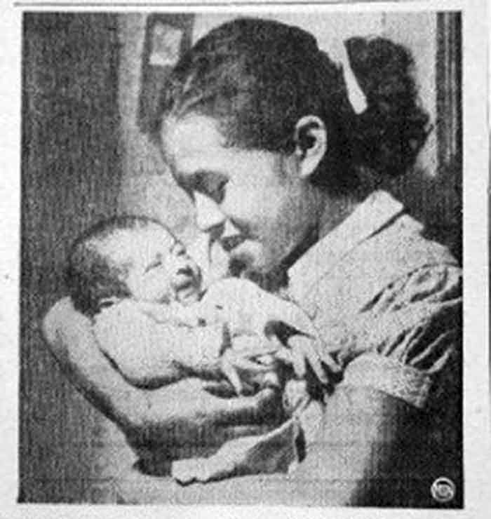 Hilda Trujillo with her baby girl