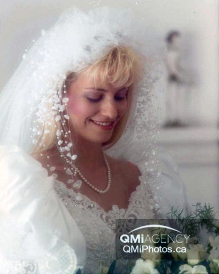 Karla Homolka in a wedding dress