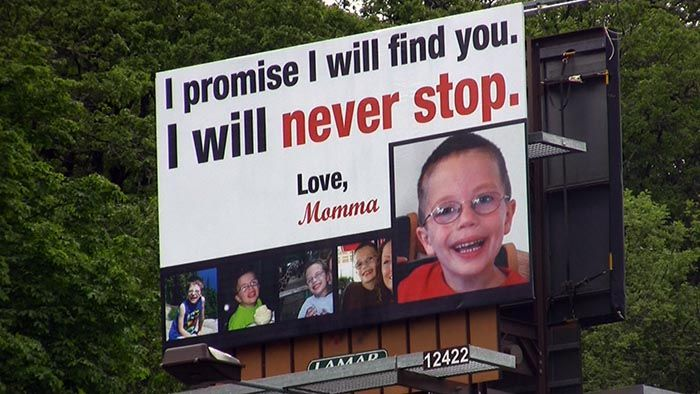 The billboard for missing Kyron Horman