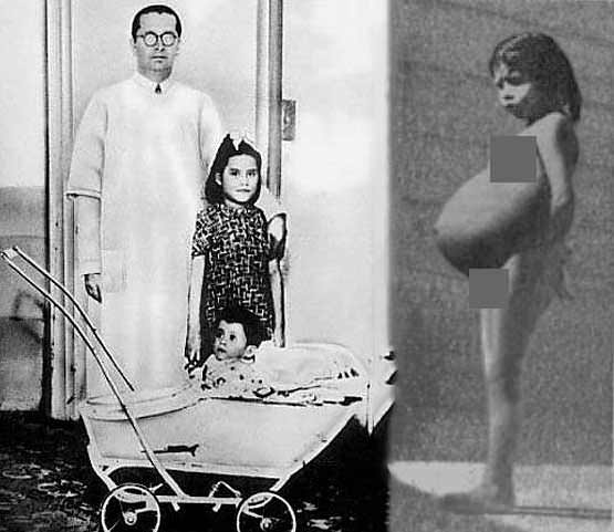 The youngest mother in history Lina Medina with her child named Gerardo