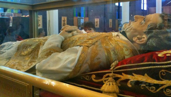 The preserved body of St. John Vianney