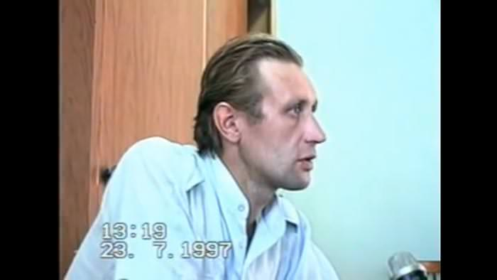 Alexander Mikheyev during the interrogation