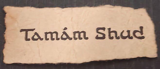 Taman Shud Sign