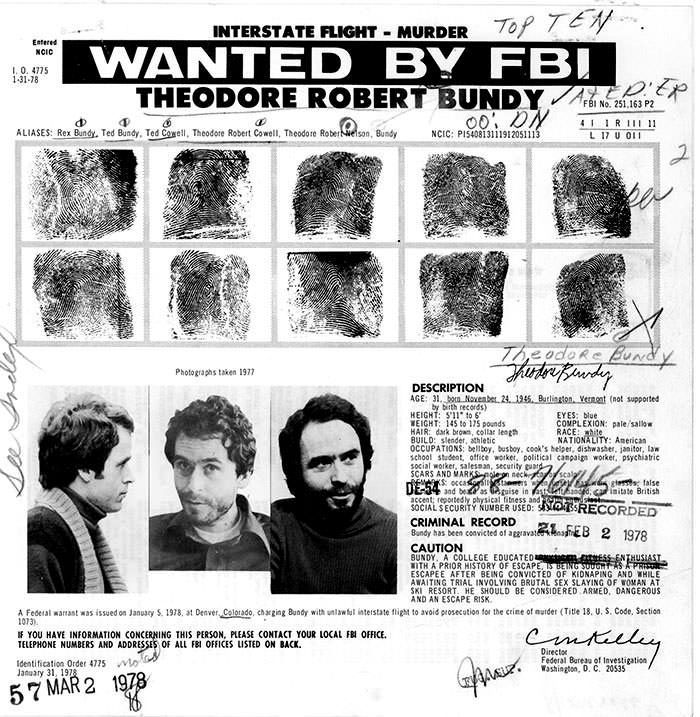 psychopath and serial killer ted bundy bizarrepedia ted bundy fbi most wanted flyer