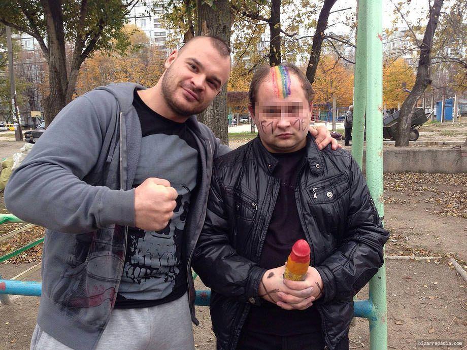Tesak and a gay man