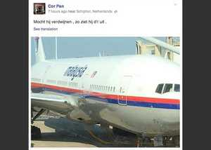 If it disappears, this is what it looks like – MH17 flight