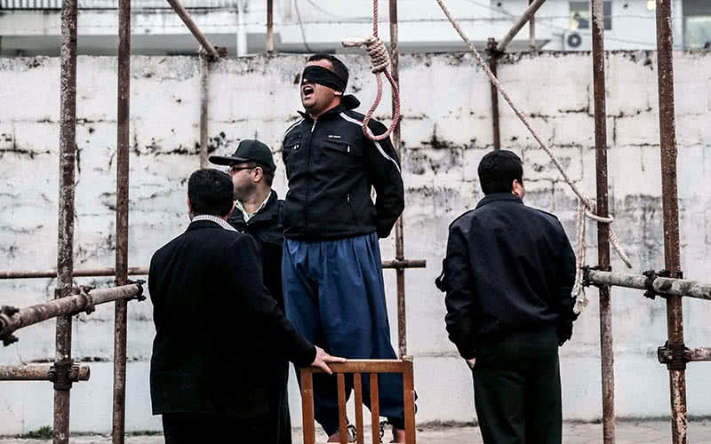 An execution in Iran.