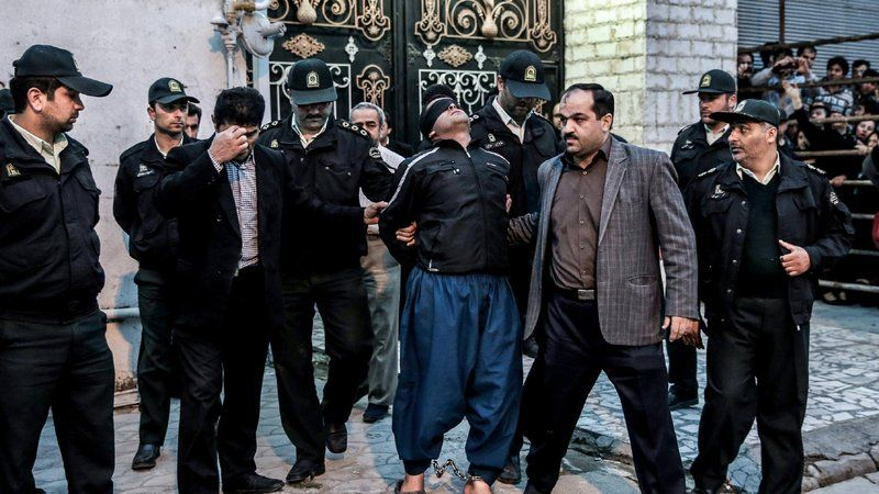 The unusual execution in Iran