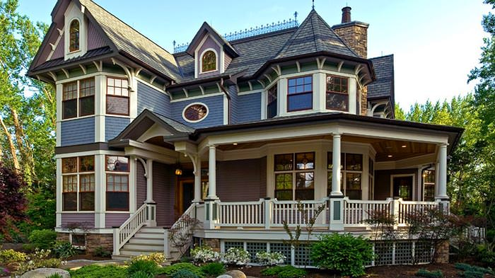 A Victorian-style house