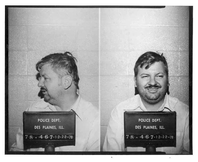 The mugshot of John Wayne Gacy