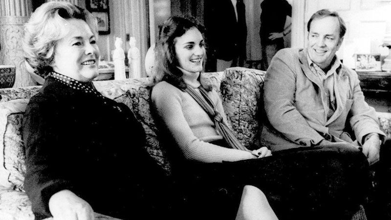 Young Patty Hearst with her parents Catherine and Randolph Hearst
